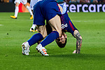Lionel Andres Messi of FC Barcelona bends on the field during the UEFA Champions League 2017-18 match between FC Barcelona and Olympiacos FC at Camp Nou on 18 October 2017 in Barcelona, Spain. Photo by Vicens Gimenez / Power Sport Images