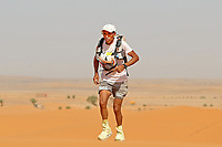 4th October 2021; Tisserdimine to Kourci Dial Zaid;  Marathon des Sables, stage 2 of  a six-day, 251 km ultramarathon, which is approximately the distance of six regular marathons. The longest single stage is 91 km long. This multiday race is held every year in southern Morocco, in the Sahara Desert. El Akad Aziz (MOR)