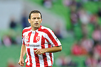 MELBOURNE, AUSTRALIA - FEBRUARY 12: Josip Skoko of the Heart in action during the round 27 A-League match between the Melbourne Heart and Sydney FC at AAMI Park on February 12, 2011 in Melbourne, Australia. (Photo Sydney Low / AsteriskImages.com)