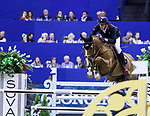 OMAHA, NEBRASKA - MAR 30: Kevin Staut rides Reveur de Hurtebise H D C during the FEI World Cup Jumping Final II at the CenturyLink Center on March 31, 2017 in Omaha, Nebraska. (Photo by Taylor Pence/Eclipse Sportswire/Getty Images)
