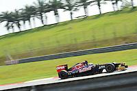 French Jean Eric Vergne on Toro Rosso STR7 .24/03/2012 Grand Prix Malesia, Sepang , Essais..Foto Insidefoto  /Bernard Asset / Panoramic.ITALY ONLY..