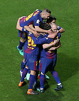 FC Barcelona's players celebrate goal during Spanish King's Cup Final match. April 21,2018. (ALTERPHOTOS/Acero)