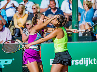 The Hague, Netherlands, 10 June, 2018, Tennis, Play-Offs Competition, Quirine Lemoine (L) and Chantal Skamlova celebrate the winning point, Zandvoort is Champion.<br /> Photo: Henk Koster/tennisimages.com