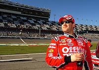 Feb 08, 2009; Daytona Beach, FL, USA; NASCAR Sprint Cup Series driver Tony Stewart during qualifying for the Daytona 500 at Daytona International Speedway. Mandatory Credit: Mark J. Rebilas-