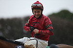 February 6, 2021: Jockey David Cabrera aboard after winning the King Cotton Stakes at Oaklawn Racing Casino Resort in Hot Springs, Arkansas on February 6, 2021. Justin Manning/Eclipse Sportswire/CSM