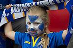 St Johnstone v FC Minsk...08.08.13 Europa League Qualifier<br /> A young saints fan<br /> Picture by Graeme Hart.<br /> Copyright Perthshire Picture Agency<br /> Tel: 01738 623350  Mobile: 07990 594431
