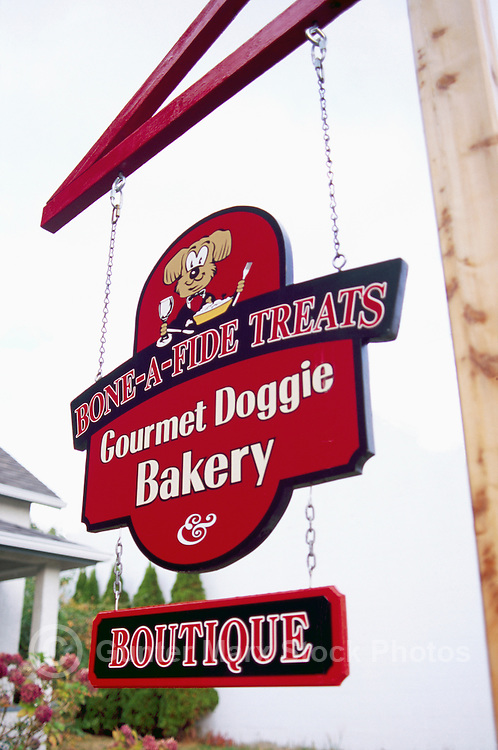 Gourmet Doggie Bakery Sign on Vancouver Island, BC, British Columbia, Canada