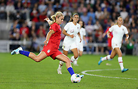 Saint Paul, MN - SEPTEMBER 03: Lindsey Horan #9 of the United States during their 2019 Victory Tour match versus Portugal at Allianz Field, on September 03, 2019 in Saint Paul, Minnesota.