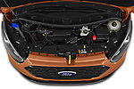 Car Stock 2021 Ford Tourneo-Custom Active 5 Door Passenger Van Engine  high angle detail view