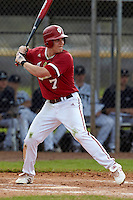 Indiana Hoosiers second baseman Michael Basil #7 during a game against the Pittsburgh Panthers at the Big Ten/Big East Challenge at the Walter Fuller Complex on February 19, 2012 in St. Petersburg, Florida.  (Mike Janes/Four Seam Images)