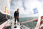 Thomas Coville onboard Sodebo in Preparation for La Route du Rhum La Banque Postale  2010.