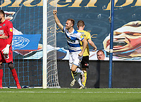 forth goal scored for Queens Park Rangers by Todd Kane of Queens Park Rangers as he celebrates during Queens Park Rangers vs Millwall, Sky Bet EFL Championship Football at Loftus Road Stadium on 18th July 2020