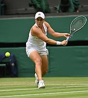 2nd July 2021; Wimbledon, SW London. England; Wimbledon Tennis Championships, day 5;  Ashleigh Barty , Australia