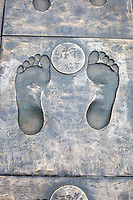 Nanjing, Jiangsu, China.  Footprints of Survivors of the Japanese Massacre.