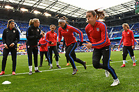 Harrison, N.J. - Sunday March 04, 2018: Alex Morgan, Kelley O'Hara, USWNT  during a 2018 SheBelieves Cup match between the women's national teams of the United States (USA) and France (FRA) at Red Bull Arena.