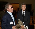 """DINO TRAPPETTI CON ALAN ELKANN<br /> PRESENTAZIONE LIBRO """"L'INVIDIA"""" DI ALAN ELKANN IN CAMPIDOGLIO - ROMA 2006"""