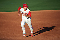 Clearwater Threshers third baseman Mitch Walding (10) running the bases during a game against the Dunedin Blue Jays on April 8, 2016 at Bright House Field in Clearwater, Florida.  Dunedin defeated Clearwater 8-3.  (Mike Janes/Four Seam Images)