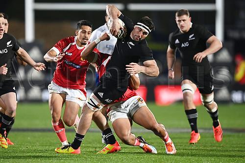 3rd July 2021, Auckland, New Zealand;  Luke Jacobson.<br /> New Zealand All Blacks versus Tonga, Steinlager Series, international rugby union test match. Mt Smart Stadium, Auckland. New Zealand.