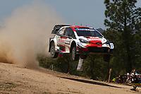 4th June 2021; Alghero, Sardinia; WRC rally of Italia Sardinia, stages  1-8;  Takamoto Katsuka-Toyota Yaris WRC