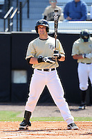 UCF Knights catcher Ryan Breen #9 at bat during a game against the Siena Saints at the UCF Baseball Complex on March 4, 2012 in Orlando, Florida.  Central Florida defeated Siena 15-2.  (Mike Janes/Four Seam Images)