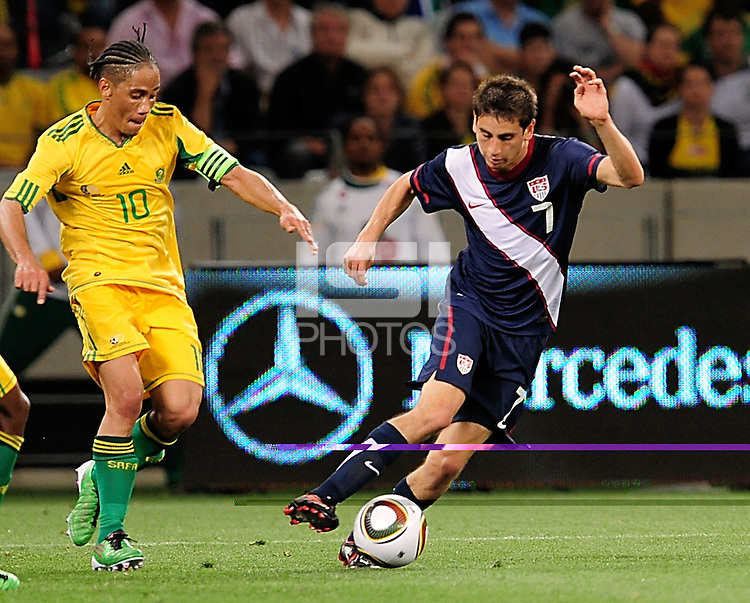 7 Alejandro Bedoya of the USA. during the  Soccer match between South Africa and USA played at the Greenpoint in Cape Town South Africa on 17 November 2010.