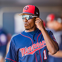 2 March 2019: Minnesota Twins top prospect infielder Nick Gordon walks the dugout prior to a Spring Training game against the Washington Nationals at the Ballpark of the Palm Beaches in West Palm Beach, Florida. The Twins fell to the Nationals 10-6 in Grapefruit League play. Mandatory Credit: Ed Wolfstein Photo *** RAW (NEF) Image File Available ***