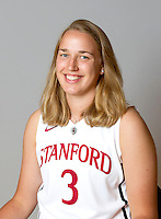 Mikaela Ruef with Stanford Women's basketball team. Photo taken on Wednesday, October 2, 2013
