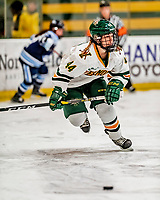 30 November 2018: University of Vermont Catamount Defender Anna Erickson, a Sophomore from Stillwater, MN, in first period action against the University of Maine Black Bears at Gutterson Fieldhouse in Burlington, Vermont. The Lady Cats were edged out by the Bears 2-1 in the first game of their 2-game Hockey East series. Mandatory Credit: Ed Wolfstein Photo *** RAW (NEF) Image File Available ***