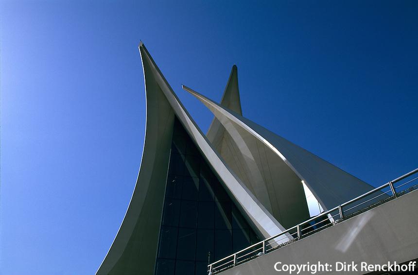 Gebäude des Dubai Creek Golf und Yacht Club, Dubai, Vereinigte arabische Emirate (VAE, UAE)