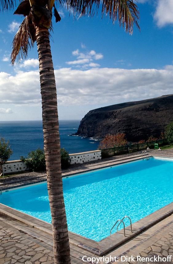 Spanien, Kanarische Inseln, Gomera, San Sebastian, Pool des Parador Conde de la Gomera