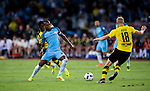 Manchester City midfielder Fernandinho Roza (l) fights for the ball with Borussia Dortmund midfielder Sebastian Rode (r) during the match between Manchester City FC during their 2016 International Champions Cup China match at the Shenzhen Stadium on 28 July 2016 in Shenzhen, China. Photo by Marcio Machado / Power Sport Images