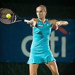 Magdalena Rybarikova of Slovakia during her semifinal match at the Citi Open in Washington, DC on August 3, 2012.