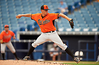 Pitcher Will Ethridge (30) of Parkview High School in Lilburn, Georgia playing for the Baltimore Orioles scout team during the East Coast Pro Showcase on July 28, 2015 at George M. Steinbrenner Field in Tampa, Florida.  (Mike Janes/Four Seam Images)