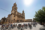 The start of Stage 12 of La Vuelta d'Espana 2021, running 175km from Jaén to Córdoba, Spain. 26th August 2021.     <br /> Picture: Luis Angel Gomez/Photogomezsport   Cyclefile<br /> <br /> All photos usage must carry mandatory copyright credit (© Cyclefile   Luis Angel Gomez/Photogomezsport)
