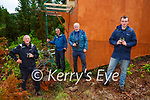 Danny O'Keeffe pulls the rope to release the young eagles in Killarney  on Saturday morning with l-r: Eamon Meskell Alan Mee and Philip Buckley