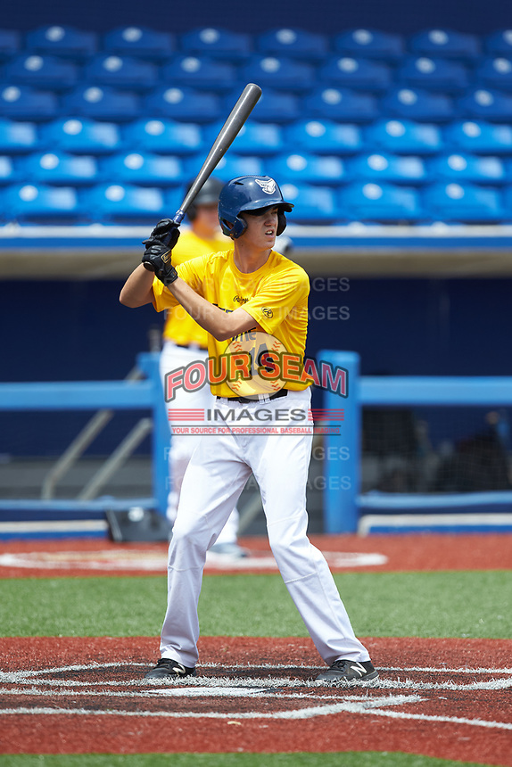 Blake Efird (14) of Porter Ridge High School in Monroe, NC during the Atlantic Coast Prospect Showcase hosted by Perfect Game at Truist Point on August 23, 2020 in High Point, NC. (Brian Westerholt/Four Seam Images)