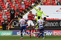 Reading goalkeeper, Cabral Barbosa punches the ball clear during Charlton Athletic vs Reading, Sky Bet EFL Championship Football at The Valley on 11th July 2020
