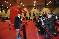 TURNEN: HEERENVEEN: Sportstad Heerenveen, 26-04-2013, onthulling Epke Zonderland zijn wassenbeeld voor het Madame Tussauds Museum in Amsterdam, ©foto Martin de Jong