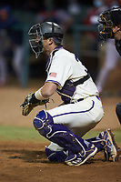 Western Carolina Catamounts catcher Tom Brosnahan (30) on defense against the St. John's Red Storm at Childress Field on March 13, 2021 in Cullowhee, North Carolina. (Brian Westerholt/Four Seam Images)