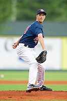Elizabethton Twins starting pitcher Taylor Rogers #24 in action against the Bluefield Blue Jays at Joe O'Brien Field on July 14, 2012 in Elizabethton, Tennessee.  The Twins defeated the Blue Jays 4-0.  (Brian Westerholt/Four Seam Images)