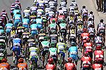 The peloton in action during Stage 2 of the 2015 Presidential Tour of Turkey running 182km from Alanya to Antalya. 27th April 2015.<br /> Photo: Tour of Turkey/Stiehl Photography/Mario Stiehl/www.newsfile.ie