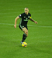 2nd February 2021; Rugby Park, Kilmarnock, East Ayrshire, Scotland; Scottish Premiership Football, Kilmarnock versus Celtic; Scott Brown of Celtic looks for an outlet for the ball
