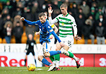 St Johnstone v Celtic…..01.03.20   McDiarmid Park   Scottish Cup Quarter Final<br />David Wotherspoon and Kristoffer Ajer<br />Picture by Graeme Hart.<br />Copyright Perthshire Picture Agency<br />Tel: 01738 623350  Mobile: 07990 594431