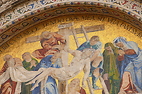 Christ Being Removed From Cross  Mosaic - St Marks Basilica - Venice