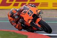 27th August 2021; Silverstone Circuit, Silverstone, Northamptonshire, England; MotoGP British Grand Prix, Practice Day; Tech3 KTM Factory Racing rider Danilo Petrucci on his KTM RC16