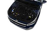 Car Stock 2018 KIA Cadenza Premium 4 Door Sedan Engine  high angle detail view