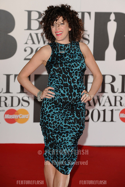 Annie Mac arriving for the Brit Awards 2011 at the O2 centre, Greenwich, London.  16/02/2011  Picture by: Steve Vas / Featureflash