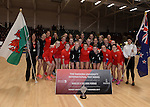 Wales and New Zealand pose for photographs  <br /> <br /> Swansea University International Netball Test Series: Wales v New Zealand<br /> Ice Arena Wales<br /> 08.02.17<br /> ©Ian Cook - Sportingwales