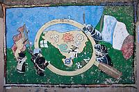 Europe/France/Aquitaine/64/Pyrénées-Atlantiques/Pays-Basque/Bayonne: dans le quartier du Petit Bayonne, mur d'expression libre défendant la cause des indépendentistes et des prisonniers politiques