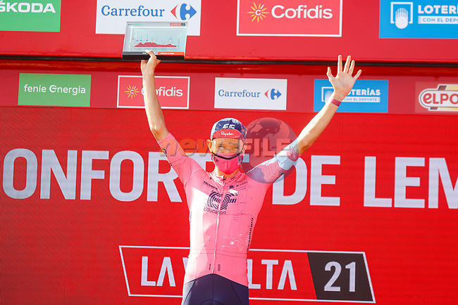 Magnus Cort Nielsen (DEN) EF Education-Nippo wins Stage 19 of La Vuelta d'Espana 2021, running 191.2km from Tapia de Casariego to Monforte de Lemos, Spain. 3rd September 2021.    <br /> Picture: Luis Angel Gomez/Photogomezsport | Cyclefile<br /> <br /> All photos usage must carry mandatory copyright credit (© Cyclefile | Luis Angel Gomez/Photogomezsport)